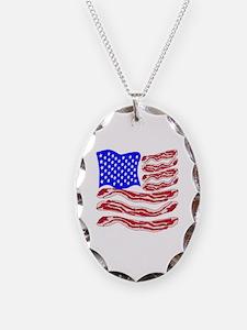 American Bacon Flag Necklace