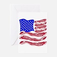 American Bacon Flag Greeting Cards (Pk of 20)