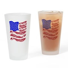 American Bacon Flag Drinking Glass