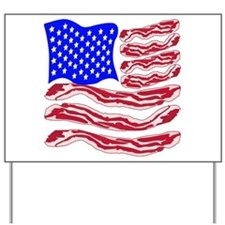 American Bacon Flag Yard Sign