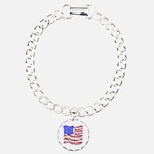 American Bacon Flag Bracelet