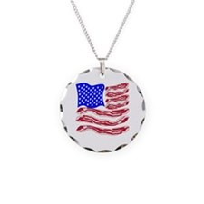 American Bacon Flag Necklace