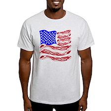 American Bacon Flag T-Shirt