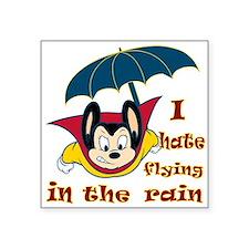 "Mighty Mouse Rain Square Sticker 3"" x 3"""