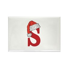 Letter S Christmas Monogram Magnets