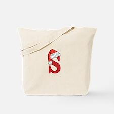 Letter S Christmas Monogram Tote Bag