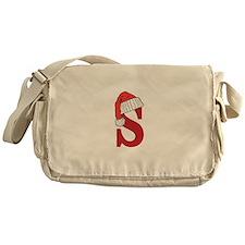 Letter S Christmas Monogram Messenger Bag