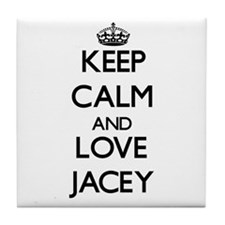Keep Calm and Love Jacey Tile Coaster