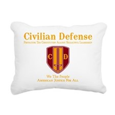 Civilian Defense Dark Rectangular Canvas Pillow