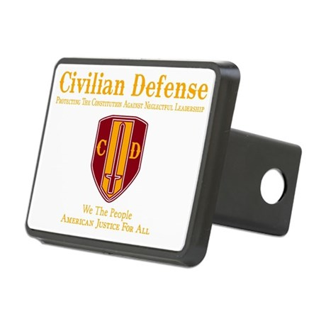 Civilian Defense Dark Rectangular Hitch Cover