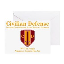 Civilian Defense Dark Greeting Card