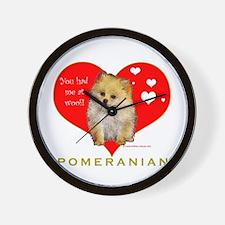 Pomeranian Valentine  Wall Clock