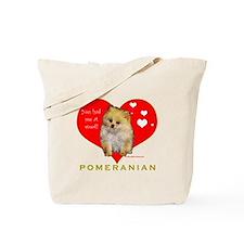 Pomeranian Valentine  Tote Bag