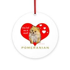 Pomeranian Valentine  Ornament (Round)