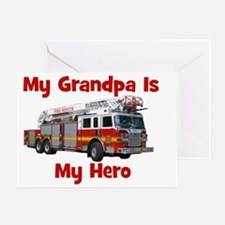 firetruck_ismyhero_grandpa Greeting Card