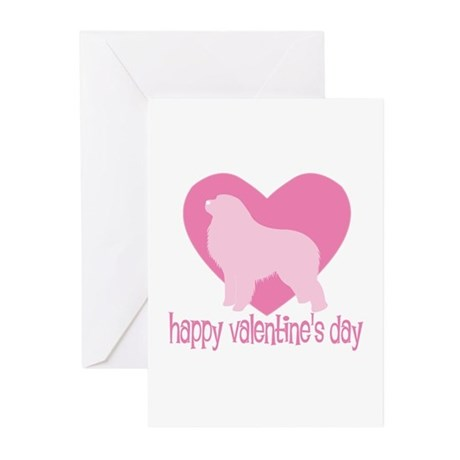 Great Pyrenees Valentine Greeting Cards (Package o
