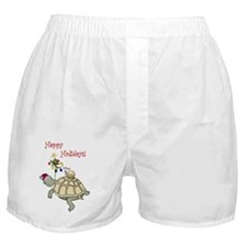 Turtle and Snail Christmas Boxer Shorts