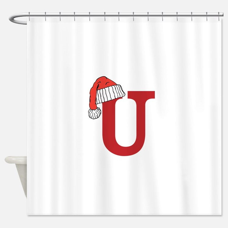 Monogrammed U Shower Curtains Monogrammed U Fabric Shower Curtain Liner