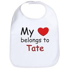 My heart belongs to tate Bib