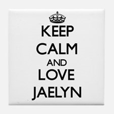 Keep Calm and Love Jaelyn Tile Coaster