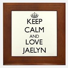 Keep Calm and Love Jaelyn Framed Tile