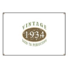 1934 Vintage Birthday Banner