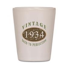 1934 Vintage Birthday Shot Glass