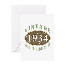 1934 Vintage Birthday Greeting Card