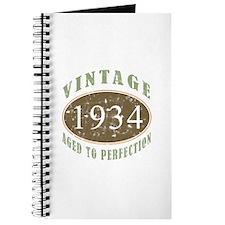 1934 Vintage Birthday Journal