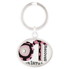Occupational Therapist Oval Keychain