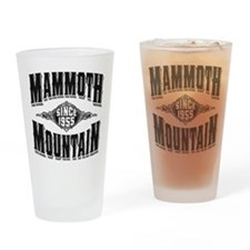 Mammoth Mtn Old Style Black Drinking Glass
