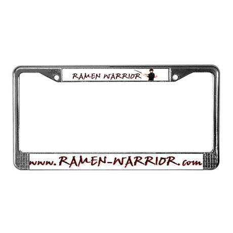 Ramen Warrior License Plate Frame