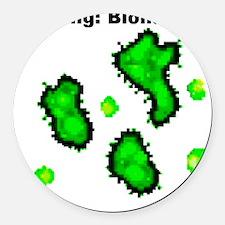 BioWarning Round Car Magnet