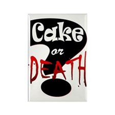 cake or death 2 Rectangle Magnet