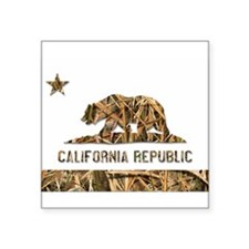 Weeds Camo California Bear 2 Sticker