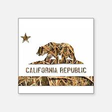 Weeds Camo California Bear 2 Sticker