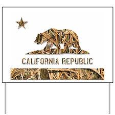 Weeds Camo California Bear 2 Yard Sign