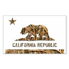 Weeds Camo California Bear 2 Decal