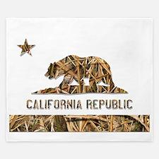Weeds Camo California Bear 2 King Duvet