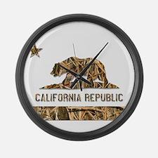 Weeds Camo California Bear 2 Large Wall Clock