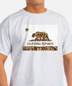 Weeds Camo California Bear 2 T-Shirt
