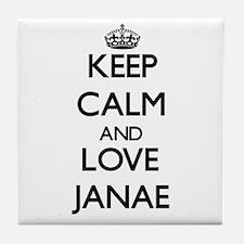 Keep Calm and Love Janae Tile Coaster
