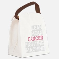 2-lean mean cancer fighting machi Canvas Lunch Bag