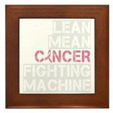 2-lean mean cancer fighting machine_da Framed Tile