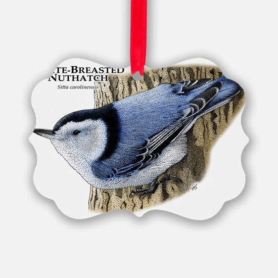 White-Breasted Nuthatch Picture Ornament