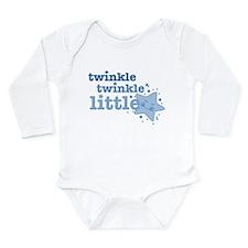Twinkle Star Blue Long Sleeve Infant Body Suit