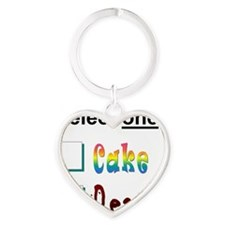 cake or death 3 Heart Keychain