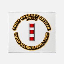 USMC - CW4 Throw Blanket