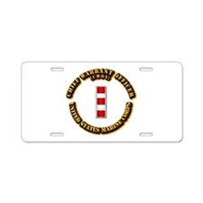 USMC - CW4 Aluminum License Plate