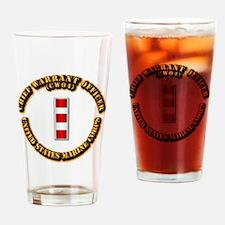USMC - CW4 Drinking Glass